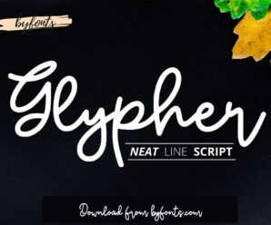Beautiful Premium Glypher Modern Font Free Download