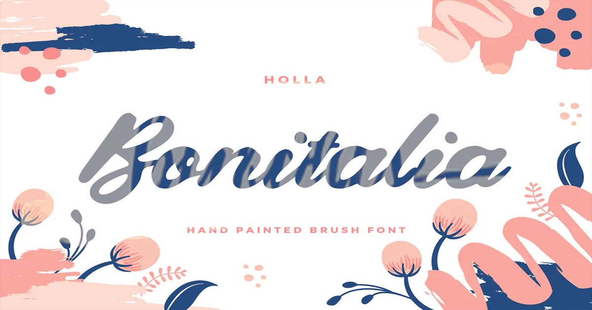 """ntroducing """"Bonitalia"""", a fun, bold and free-spirited hand-drawn script. Every single letters have been carefully crafted to make your text looks beautiful. Don' t waste your time, if it can be easy and simple! Be a perfect professional in a minute and start creating modern designs like quotes, logo for your vlog, blog header, poster, wedding, branding, fashion, apparel, letter, invitation, stationery, etc. No Need Extra Application: Just instal and type on your daily used App. Supports international characters: Danish, Dutch, English, Filipino, Finnish, French, Galician, German, Indonesian, Irish, Italian, Norwegian Bokmål, Norwegian Nynorsk, Portuguese, Romansh, Somali, Spanish, Swedish, Swiss German."""