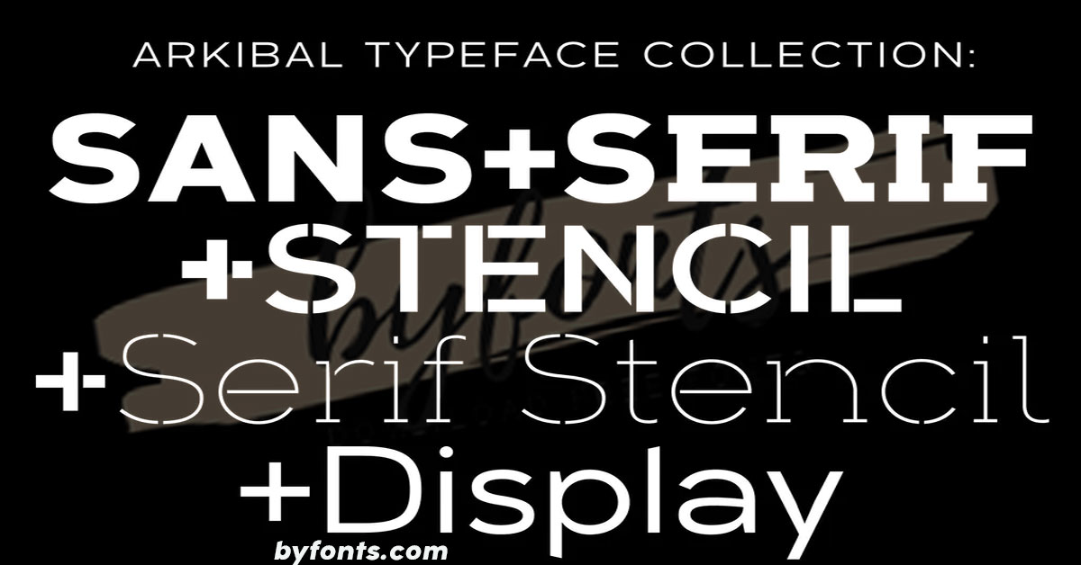 Arkibal Typeface Collection Font