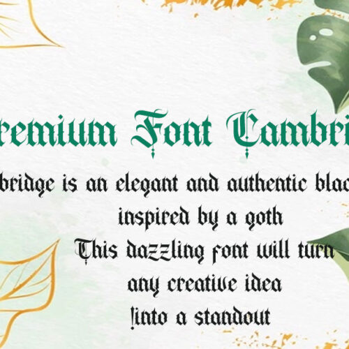 Bold Decorative Gothic Font Free Download