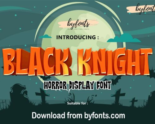 Download Free Black Knight - Mystery Gaming and Movie Font