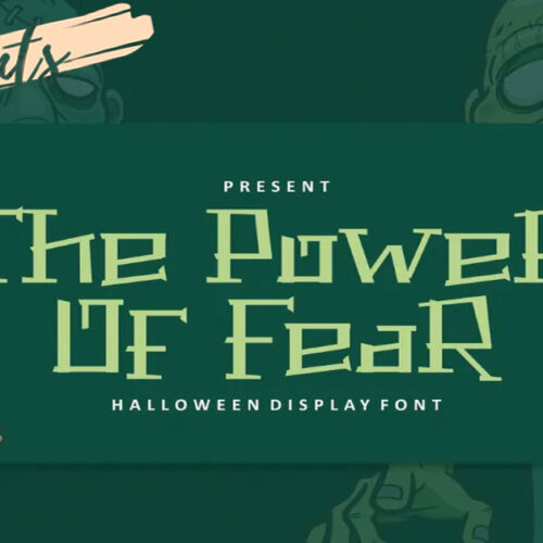 The Power of Fear Font